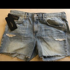 New rag & bone denim cutoff jean shorts sz 29